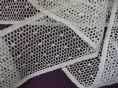 "Champagne Cotton Cluny Leavers Lace Trim 2.5"" wide. Pattern 2066 - Made in GB"